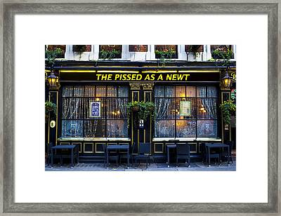 Pissed As A Newt Pub  Framed Print