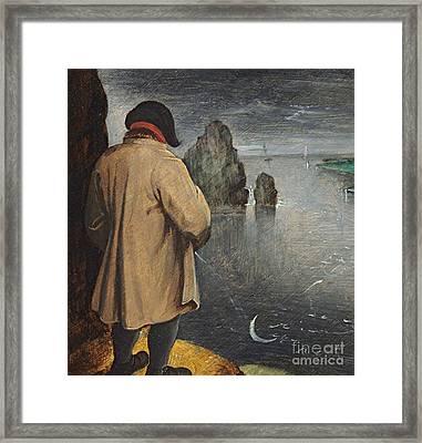 Pissing At The Moon  Framed Print by Pieter the Younger Brueghel