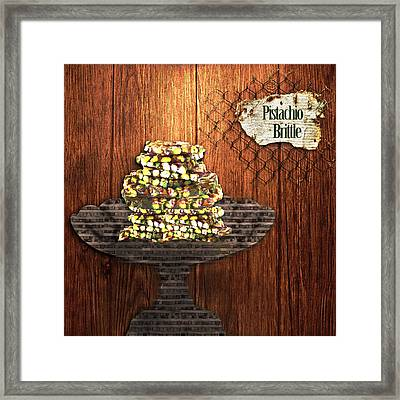 Pistachio Brittle Framed Print by Paula Ayers