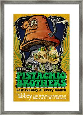 Pistachio Brothers - Abbey Framed Print by Jon Griffin
