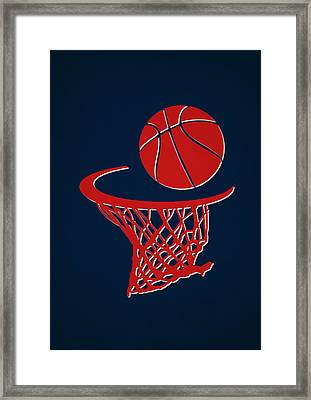 Pistons Team Hoop2 Framed Print
