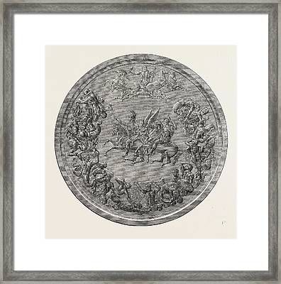 Pistruccis Great Waterloo Medal Reverse Framed Print by English School