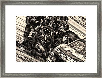Pit Crew 99 Team  Framed Print by Kevin Cable