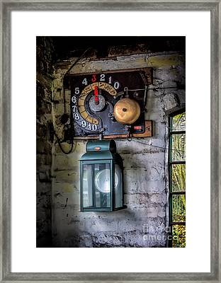 Pit Lift Control Framed Print by Adrian Evans