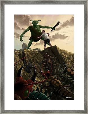 Pit Of Giant Insect Monsters Framed Print