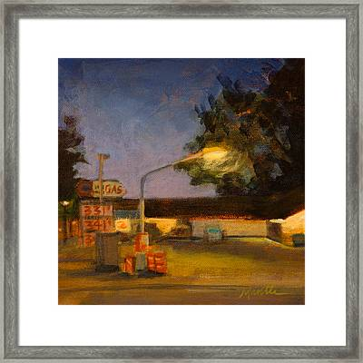 Pit Stop Framed Print by Athena  Mantle