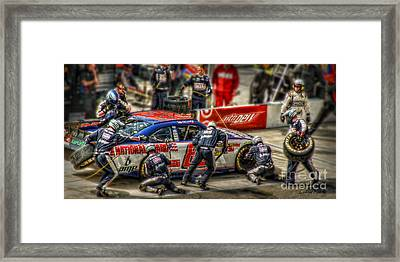 Pit Strategy Framed Print by Louise Reeves