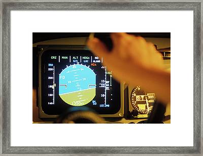 Pitch And Roll Display Screen Framed Print by Ton Kinsbergen/science Photo Library