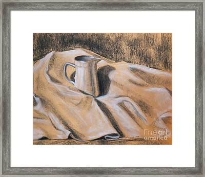 Pitcher And Cloth Framed Print