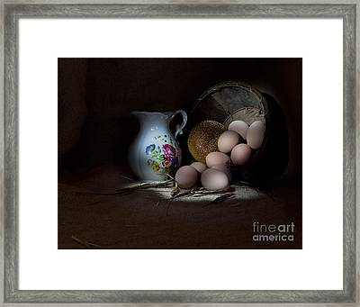 Pitcher And Eggs Framed Print by Cecil Fuselier