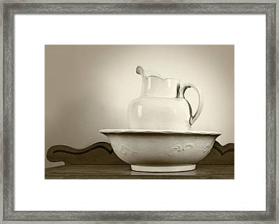 Pitcher Basin Still Life Framed Print by Nikolyn McDonald