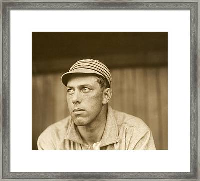 Pitcher Jack Coombs - Philadelphia Athletics 1911 Framed Print by Mountain Dreams