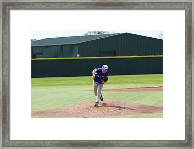 The Pitch Framed Print by Jeff Tuten