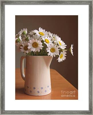 Pitcher Of Spring Framed Print by Diane Diederich