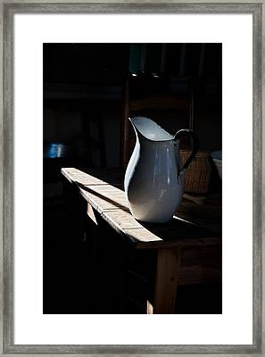 Pitcher On Table Framed Print