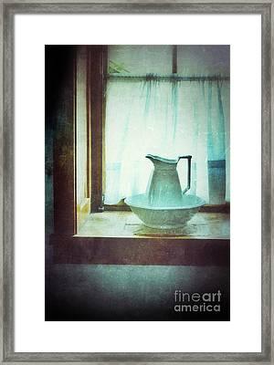 Pitcher On Windowsill Framed Print by Jill Battaglia