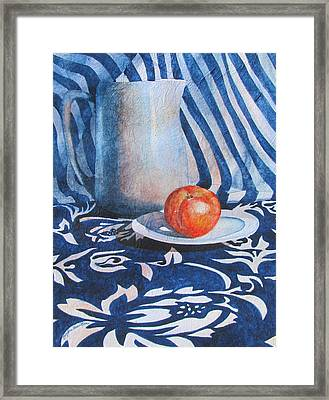Pitcher With Fruit Framed Print by Daydre Hamilton