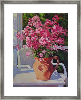 Pitcher With Phlox Framed Print