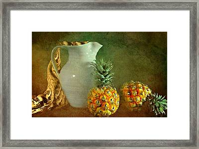 Pitcher With Pineapples Framed Print by Diana Angstadt