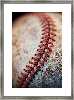Pitchers Stitches Framed Print by Karol Livote
