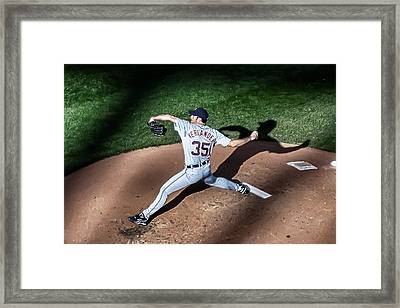 Pitching Through Shadows Framed Print by Tom Gort