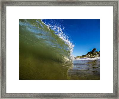 Pitching Wave Framed Print
