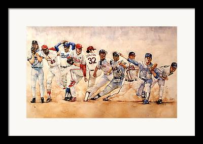 Red Sox Drawings Framed Prints
