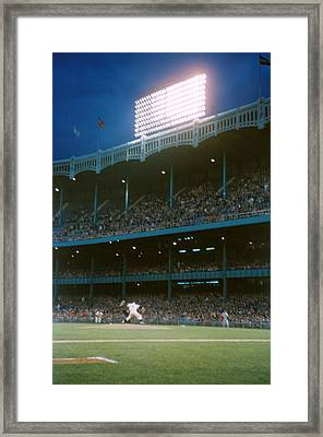 Old Yankee Stadium  Framed Print by Retro Images Archive