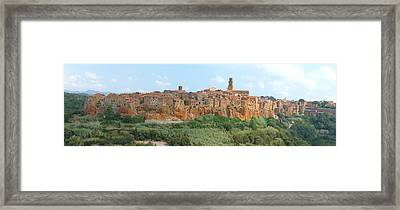 Pitigliano Panorama Framed Print by Alan Socolik