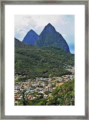 Pitons Framed Print