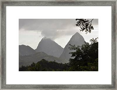 Pitons St Lucia Framed Print by J R Baldini Master Photographer