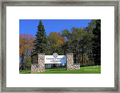 Pitt-johnstown Framed Print