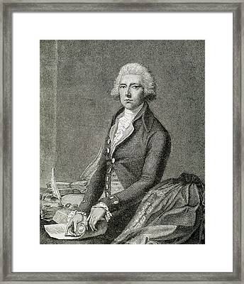 Pitt, William (london 1708-hayes, 1778 Framed Print
