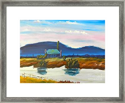 Framed Print featuring the painting Pittown by Pamela  Meredith