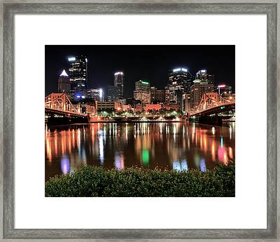 Pittsburgh Across The Allegheny Framed Print by Frozen in Time Fine Art Photography