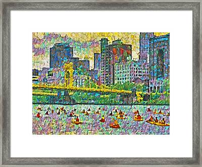 Pittsburgh Adventure Race Framed Print