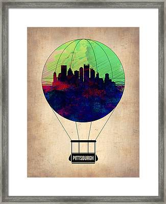 Pittsburgh Air Balloon Framed Print