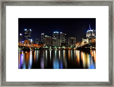 Pittsburgh At 2am Framed Print by Frozen in Time Fine Art Photography