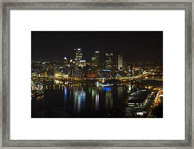 Pittsburgh At Christmas Framed Print by Nathan Ealy