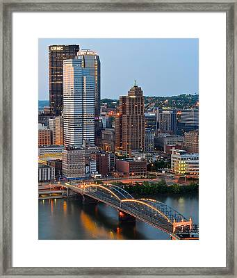 Pittsburgh At Dusk Framed Print