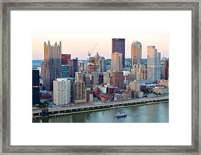 Pittsburgh At Dusk Framed Print