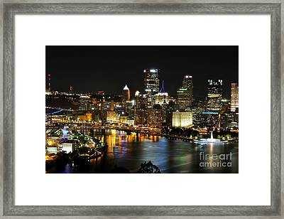 Pittsburgh Autumn Night 1 Framed Print