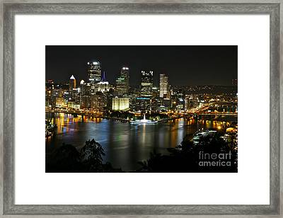 Pittsburgh Autumn Night 2 Framed Print