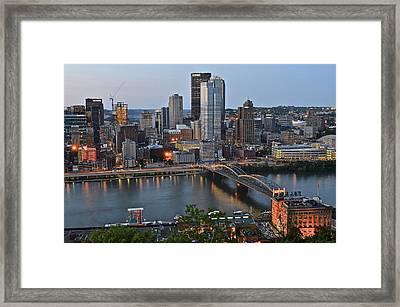 Pittsburgh Before Sunset Framed Print