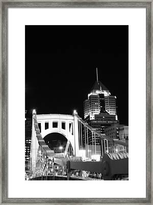 Pittsburgh Bridge Framed Print by Josh Ebel