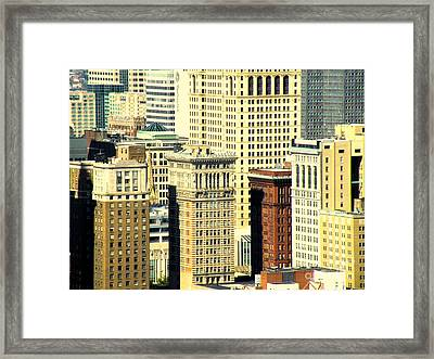 Pittsburgh City Of Windows Framed Print by Joe Jake Pratt