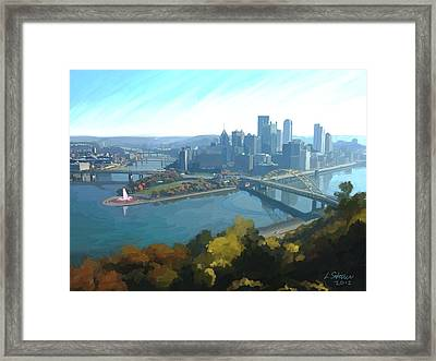 Pittsburgh Classic View 1 Framed Print by Lee Steiner