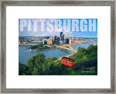 Pittsburgh Digital Painting Framed Print by Sharon Dominick