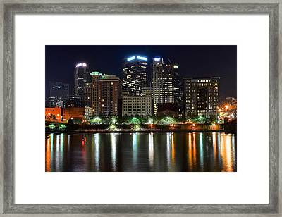 Pittsburgh From Below Framed Print by Frozen in Time Fine Art Photography