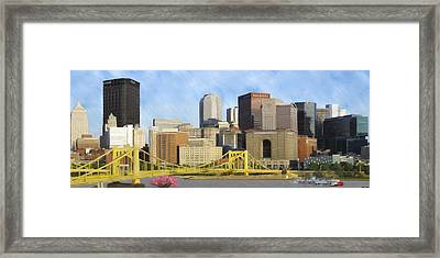 Pittsburgh From Pnc Park Framed Print by David Head